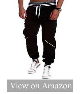 Keybur Men's Harem Casual Baggy Hip-hop Dance Jogger Sweatpants Trousers